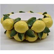 Zanatta - Cachepot w/Lemons And Leaves Application 41x16cm