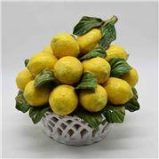Zanatta - Leaked Basket Of Lemons And Leaves 29x26cm