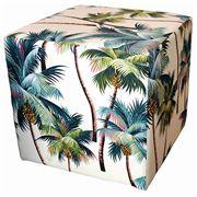 Vintage Beach Shack - Ottoman Palm Tree Natural 45x45cm