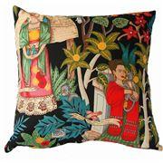 Vintage Beach Shack - Cushion Fridasgarden Black 50x50cm