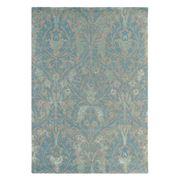 Morris & Co - Autumn Blue Handmade Floral Rug 200x140cm