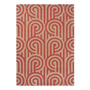 Florence Broadhurst Rug - Turnabouts Claret & Tan 240x170cm