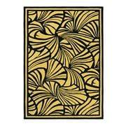 Florence Broadhurst Rug - Fans Gold & Black 280x200cm