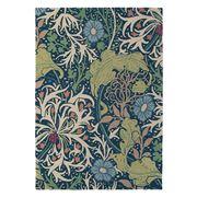 Morris & Co - Seaweed Ink Axminster Floral Rug 240x170cm