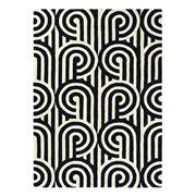 Florence Broadhurst Rug - Turnabouts Black & White 240x170cm