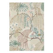Sanderson - Rain Forest Orchid Grey Tropical Rug 280x200cm