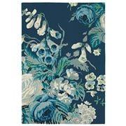Sanderson - Stapleton Park Admiral Blue Floral Rug 280x200cm