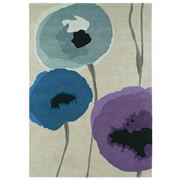 Sanderson - Poppies Indigo & Purple Wool Rug 280x200cm