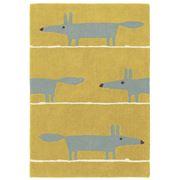 Scion - Mr Fox Mustard Yellow Mid Century Rug 180x120cm