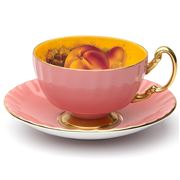 Aynsley - Orchard Gold Oban Teacup & Saucer Pink