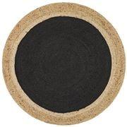 Tapete Rug - Black Modern Flatwoven Round Rug 120x120cm