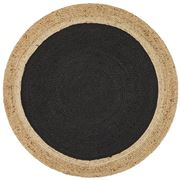 Tapete Rug - Black Modern Flatwoven Round Rug 150x150cm