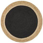 Tapete Rug - Black Modern Flatwoven Round Rug 240x240cm