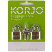 Korjo - Luggage Padlock Set 2pce
