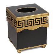 The Enchanted Home - Greek Key Black & Gold Tissue Holder