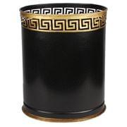 The Enchanted Home - Greek Key Black/Gold Wastepaper Basket