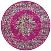 Rug Culture - Fuschia & Multi Oriental Round Rug 240x240cm