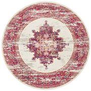 Rug Culture - Pink & Ivory Oriental Round Rug 240x240cm