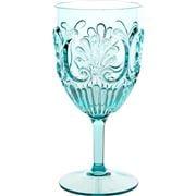 Flair Decor - Acrylic Wine Glass  Scollop Sea Foam