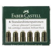 Faber-Castell - Black Ink Cartridge Set 6pce