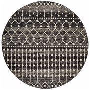 Tapete Rug - Black Tribal Round Rug 240x240cm