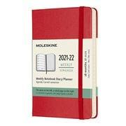 Moleskine - 2021-22 Weekly Pocket Diary H/C Scarlet Red