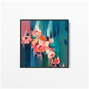 I Heart Wall Art - A Golden Day Floral Black Frame 140x140