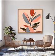 I Heart Wall Art - Gentle Days Natural Frame 95x95