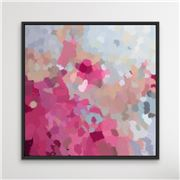 I Heart Wall Art - Go Out And Play Black Frame 95x95