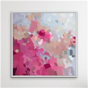 I Heart Wall Art - Go Out And Play White Frame 95x95
