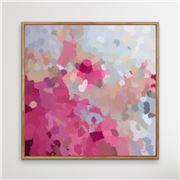 I Heart Wall Art - Go Out And Play Natural Frame 95x95