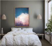 I Heart Wall Art - Cloudlands Cloudy Sky White Frame 120x160