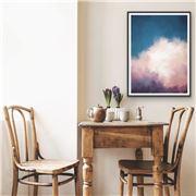 I Heart Wall Art - Cloudlands Cloudy Sky Black Frame 120x160