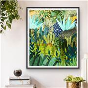 I Heart Wall Art - Jungle Drums Black Frame 120x160