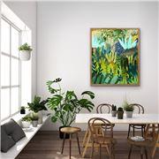 I Heart Wall Art - Jungle Drums Natural Frame 120x160