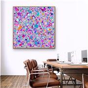 I Heart Wall Art - Confetti Colourful Black Frame 95x95