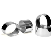 Whitehill - Plain Silver Plated Oval Napkin Ring Set 4pce