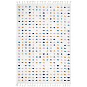 Tapete Rug - White Multi Soft Polka Dot Shag Rug 400x300cm