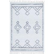 Tapete Rug - White & Silver Berber Shag Rug 170x120cm