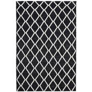 Tapete Rug - Black & White Hand Loomed Scandi Rug 225x155CM