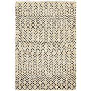 Tapete Rug - Black Jute Tribal Rug 225x155cm
