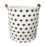 Executive Concepts - Canvas Storage Basket White Cross