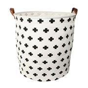 Executive Concepts - Canvas Storage Basket White Cross