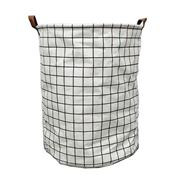 Executive Concepts - Canvas Storage Basket White Grid