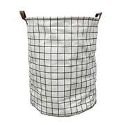 Executive Concepts - Canvas Storage Basket White Grid