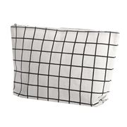 Executive Concepts - Canvas Cosmetic Bag White Grid