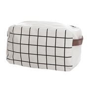 Executive Concepts - Canvas Wetpack Cosmetic Bag White Grid