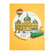 Squidinki - Flinders Street Station Melbourne Tea Towel