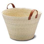 Linen & Moore - Cruz Baja Natural Maxi Basket w/ Handles