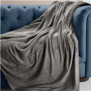 Brogo - Luxe Supersoft Micro Mink Grey Blanket